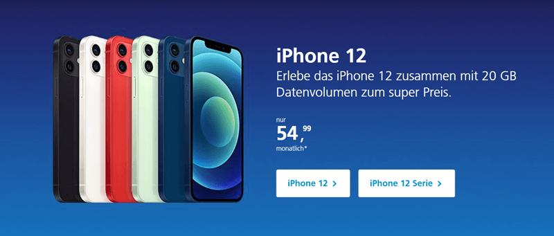 عروض شركة O2 في ألمانيا 2021 على هواتف iPhone 12 الجديدة