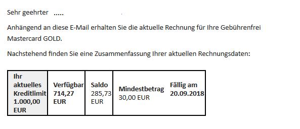 بطاقة ماستر كارد جولد البطاقة الذهبية في المانيا
