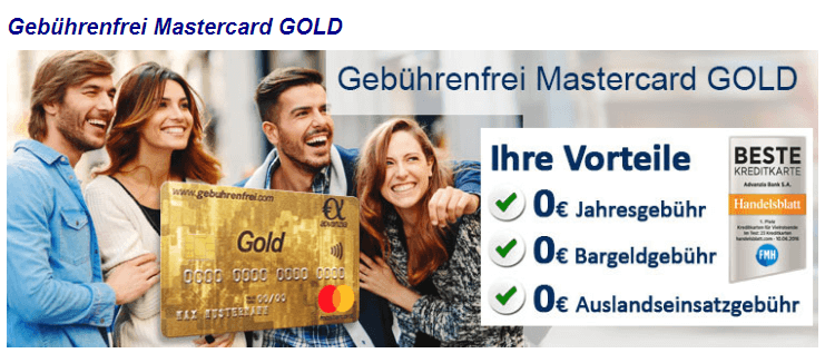gebührenfrei english free mastercard gold germany